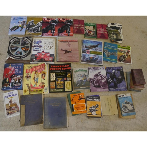 38 - Large quantity of Grasstrack and other books...