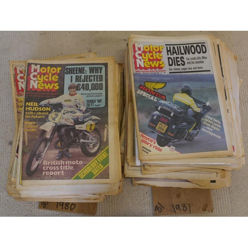 5 - Quantity of 1980's Motorcycle News publications...