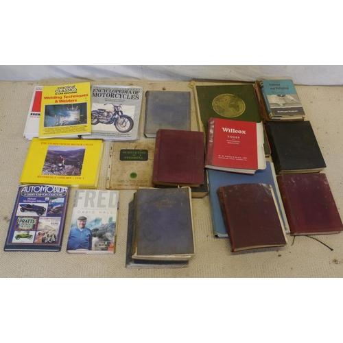 6 - Motorcycle hard back books, engineering and tool handbooks and motorcycle encyclopaedias...