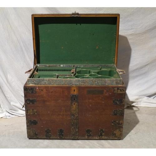 8 - Metal bound fitted silver chest. Goldsmiths Alliance Ltd...