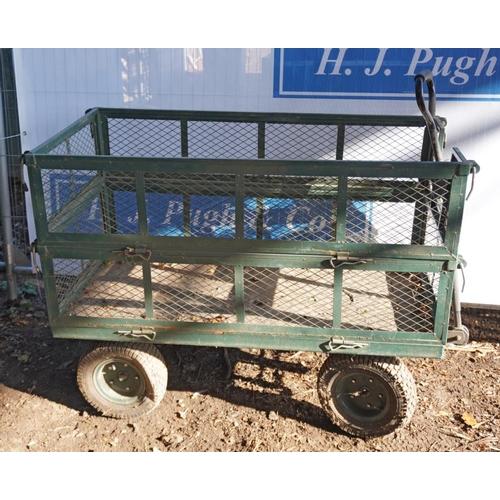 24 - 4 Wheel garden trolley...