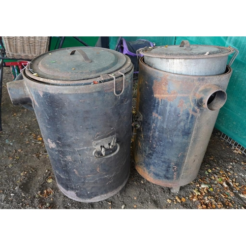 25 - 2 Ex army cook boilers...