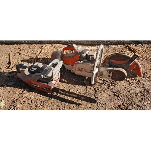 31 - Chainsaw and disc cutter...