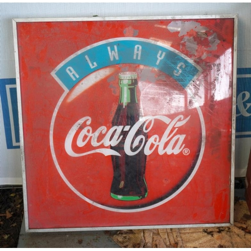 41 - Coca Cola double sided illuminated sign...