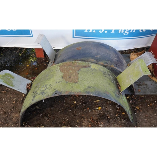 43 - Pair of Bedford fish tail type rear mudguards...