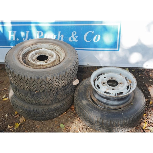 56 - Car wheels and tyres...
