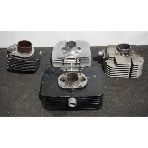33 - Various engine heads and barrels...