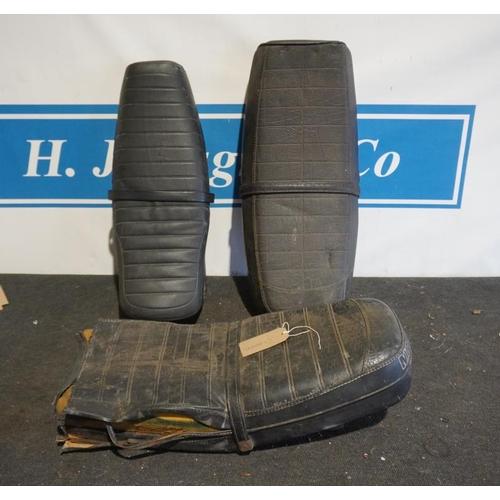 38 - Benelli, Moto Guzzi and Simpson motorcycle seats...