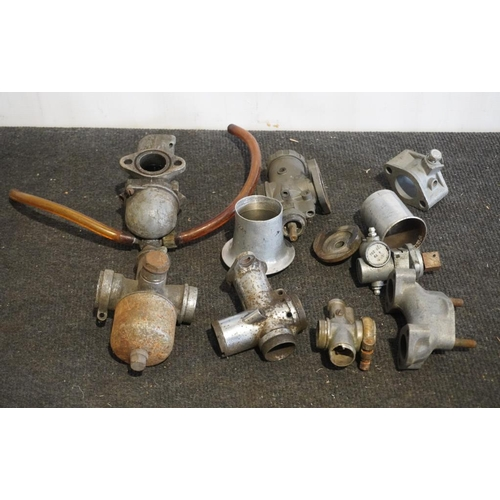 5 - Assorted carburettor parts including AMAL...