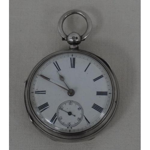 13 - Silver pocket watch...