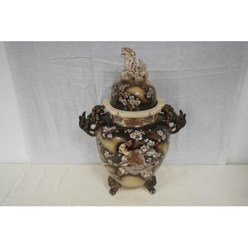33 - Large oriental vase...