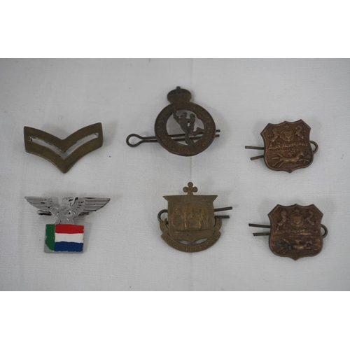 4 - 6 Assorted badges to include South Africa railways...