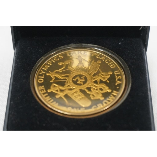 5 - Isle Of Man commemorative coin marking the 13th winter Olympics 1980...