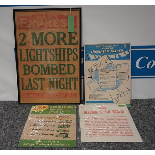 1 - Posters -How to make your household linens last longer, VPA 5 point plan. WWII poster
