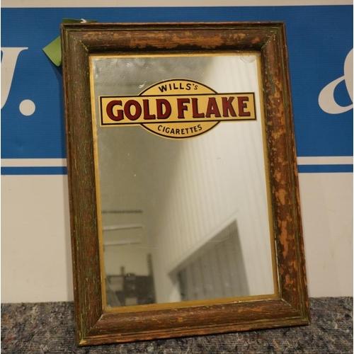 11 - Wills Gold flake cigarettes advertising mirror...