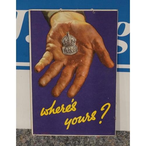 12 - Wartime showcard