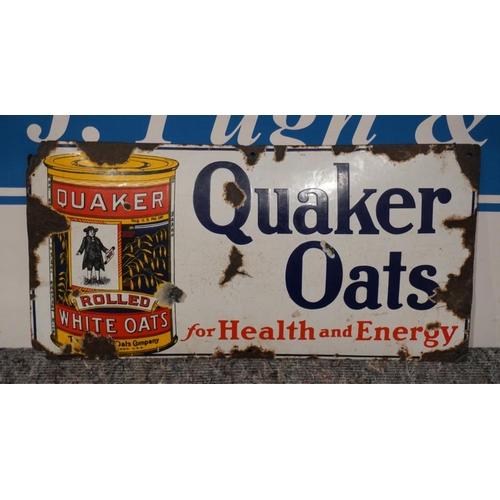 15 - Enamel sign Quakers oats - pictorial  12x24