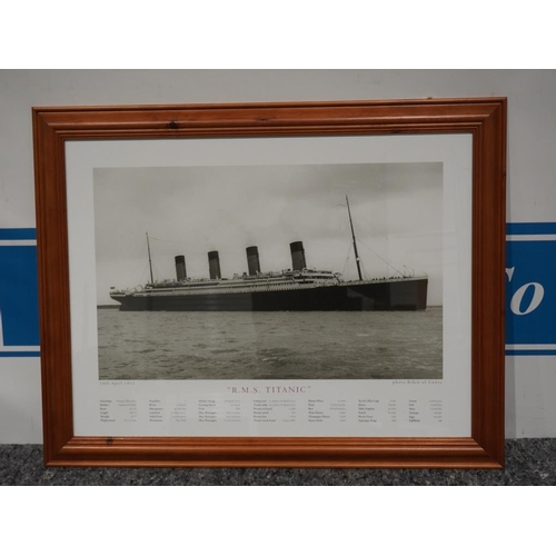 16 - Framed picture of RMS Titanic...