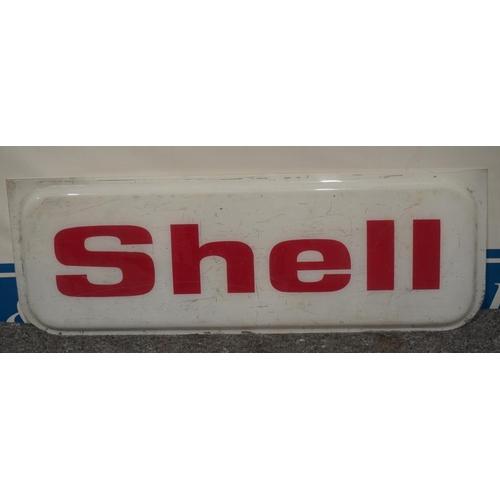 20 - Shell plastic sign 15x42