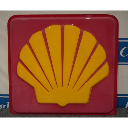 21 - Shell plastic sign 42x40