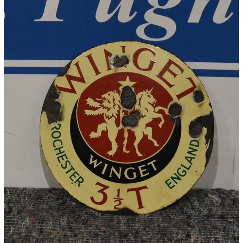 27 - Enamel sign- Winget, Rochester England  11