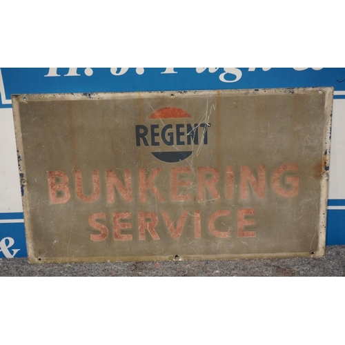 35 - Regent bunkering service- double sided tin sign 20x36