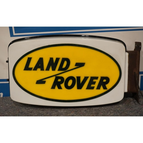37 - Land Rover illuminated double sided sign 19x30