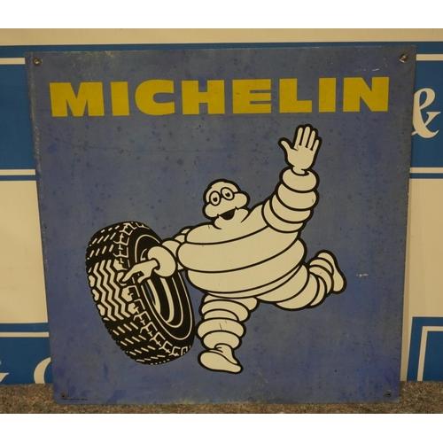 38 - Michelin man tin sign 29 1/2 x 29 1/2