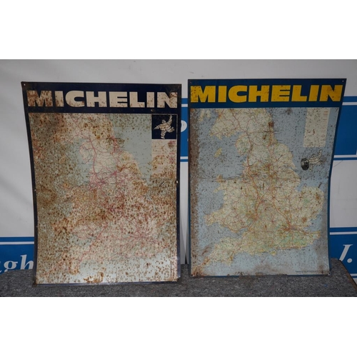 41 - 2 Michelin map tin signs 34x25