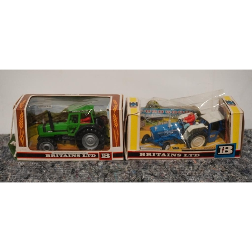57 - Britains Ford 5000 (boxed) and Britains Duetz tractor (boxed)...
