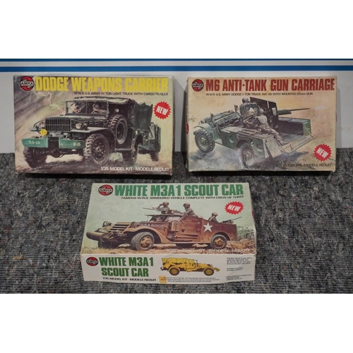 60 - 3 Boxed airfix kits from 1970's 1/35 scale military vehicles...