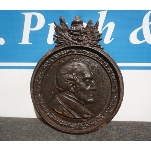 9 - Cast iron plaque believed to be