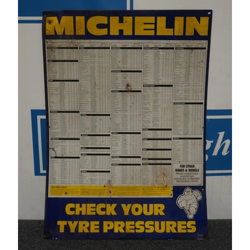 10 - Tin sign- Michelin check your tyre pressure 34x24