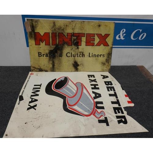 12 - Aluminium sign- Mintex 18x30