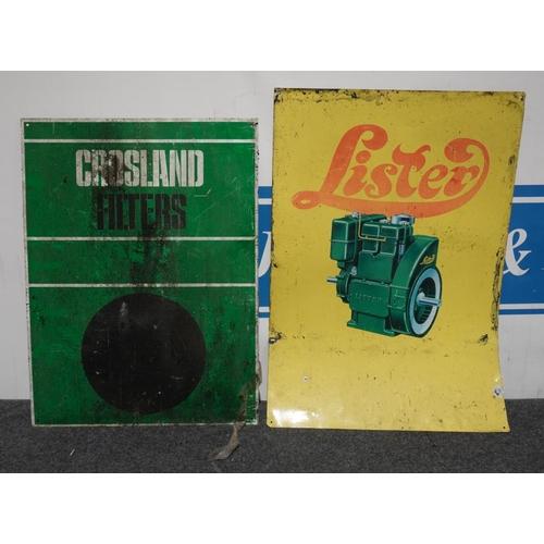 13 - Tin sign- Lister 27x19
