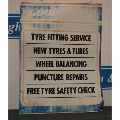 15 - Tin sign- Goodyear fitting service 47x36