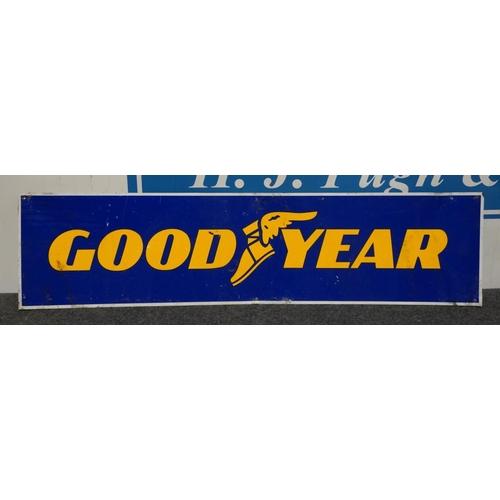 16 - Aluminium sign -Goodyear  11x44 1/2