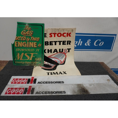 17 - Timax poster, Case plaques and one other, A/F...