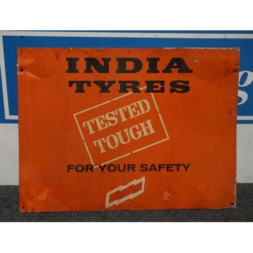 19 - Tin sign- Indian tyres 17x23
