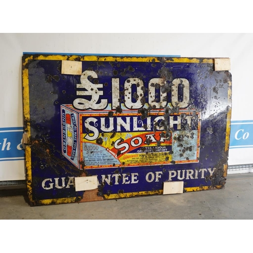 24 - Enamel sign- Sunlight Soap 48x72