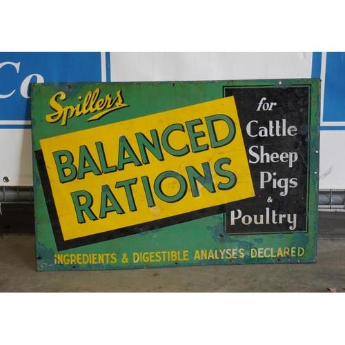 25 - Enamel sign- Balanced Rations