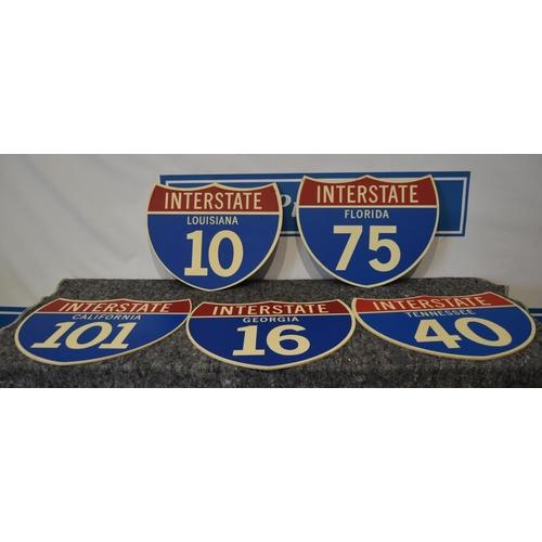 4 - 5 Wooden signs- USA interstate...