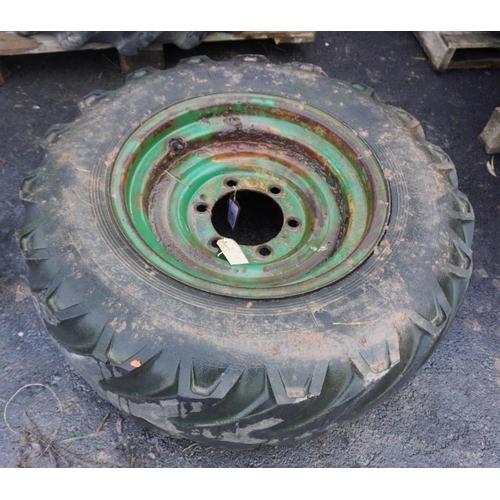 44 - Dumper wheel and tyre 12.5-20...