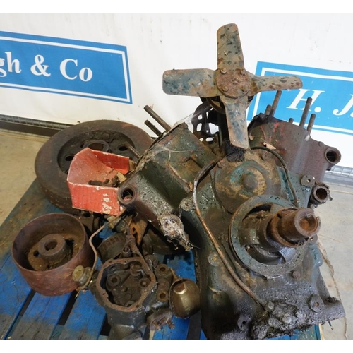 49 - Turner V twin diesel tractor engine and spares...