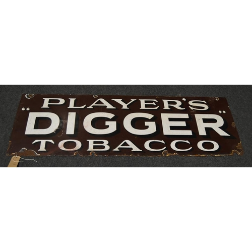 5 - Enamel sign- Players Digger tobacco 56x18