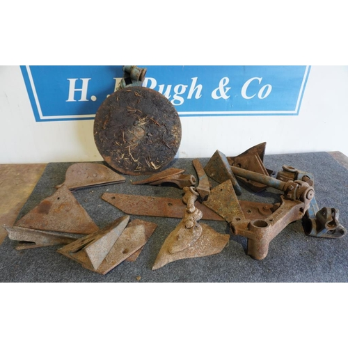 56 - Ransomes plough parts and others...