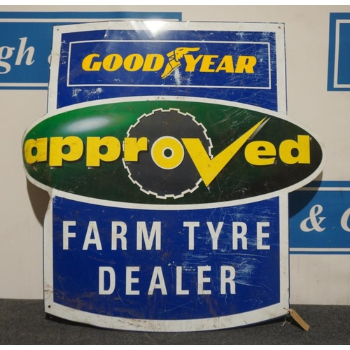 6 - Tin sign- Goodyears Approved Farm Tyres 42x44