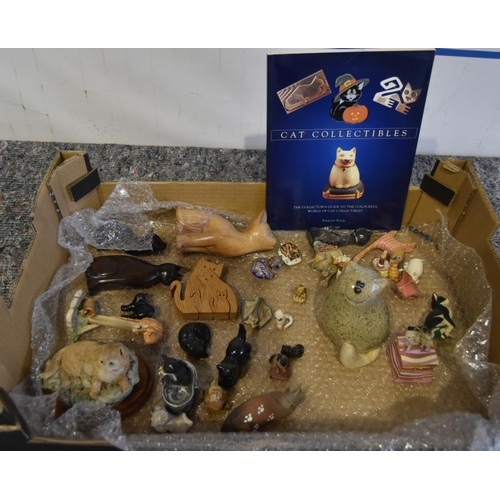 17 - Assorted cat ornaments...