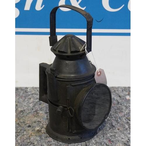 25 - Vintage railway lantern...