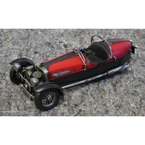 28 - 3 Wheel vintage car model...